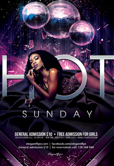 Hot Saturday Party – Flyer PSD Template