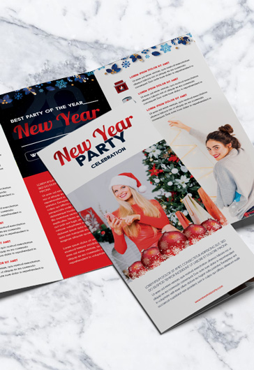 New Year – Tri-Fold Brochure PSD Template