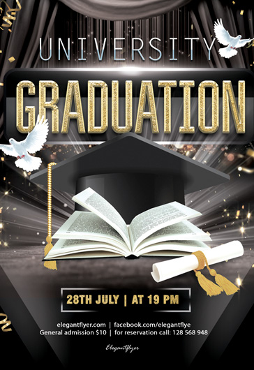 University Graduation – Free Flyer in PSD