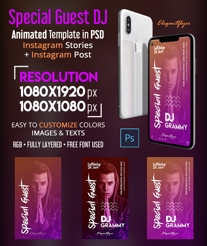 Special Guest DJ – Animated Instagram Stories Template