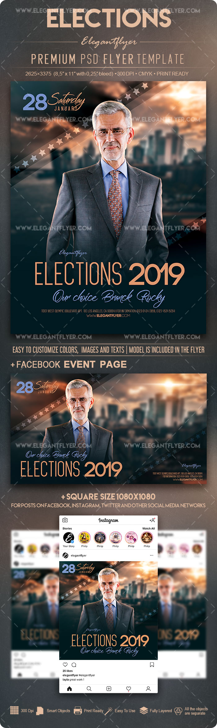 Elections – Flyer PSD Template