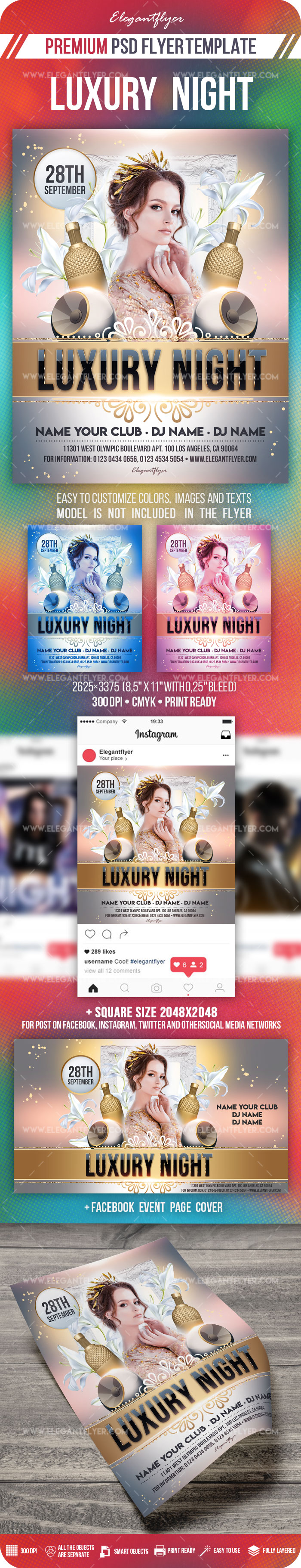 Luxury Night – Flyer PSD Template