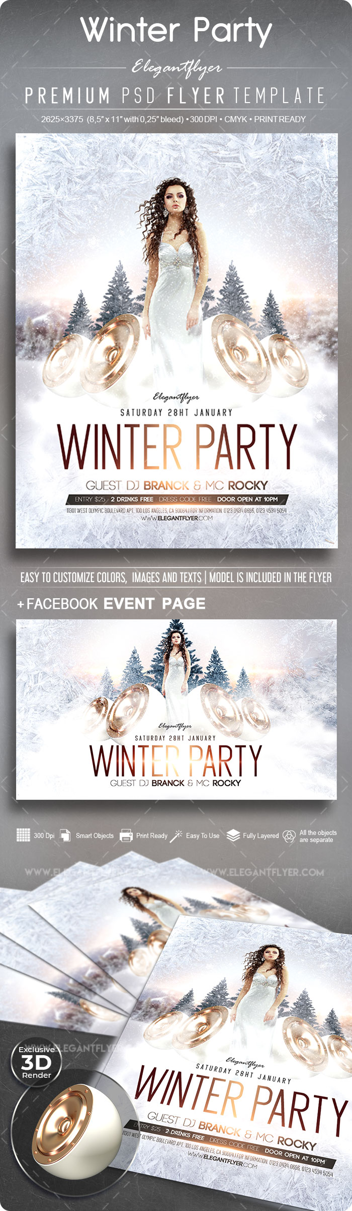 Winter Party – Flyer PSD Template