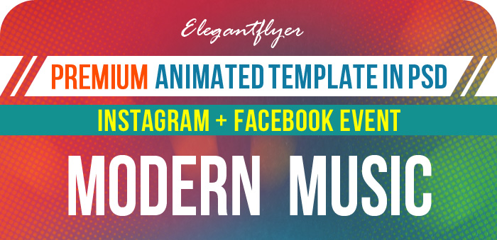Modern Music – Animated Instagram + Facebook Flyer Template