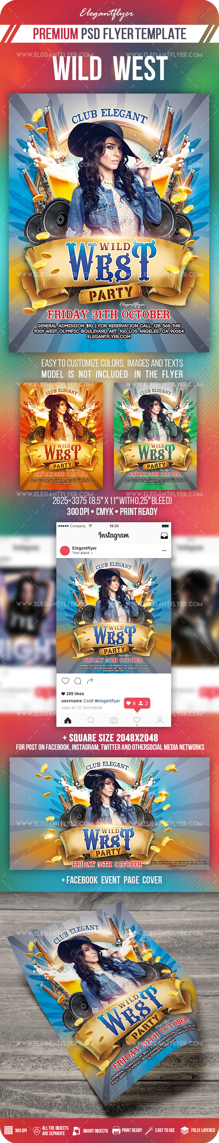 Wild West – Flyer PSD Template