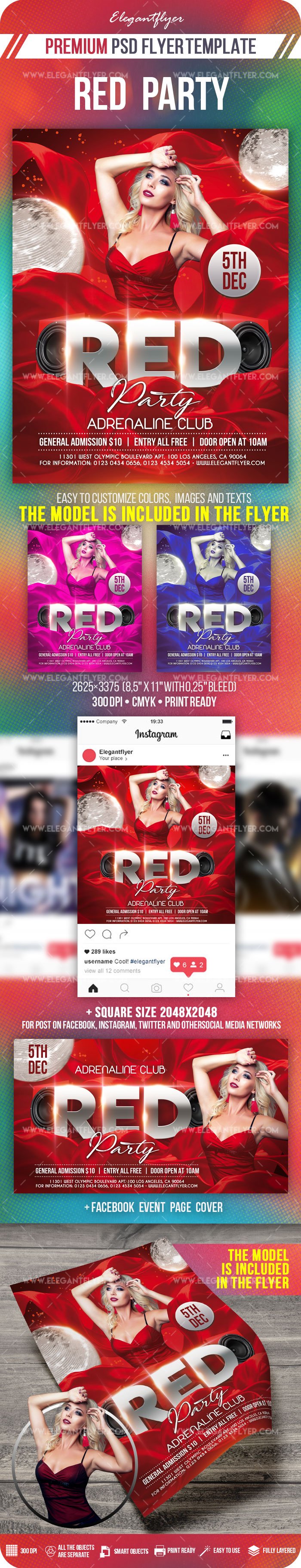 Red Party – Flyer PSD Template