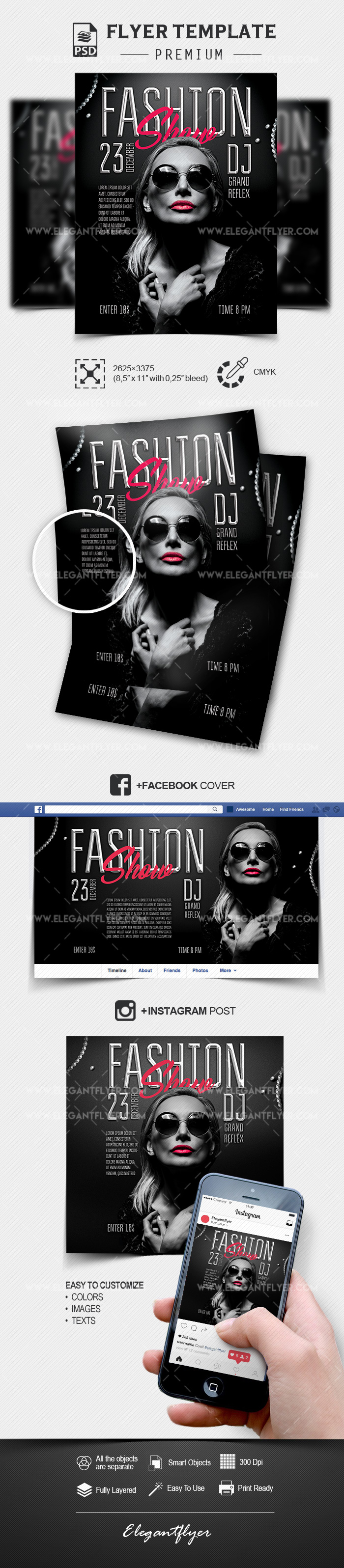 Fashion Show – PSD Flyer Template