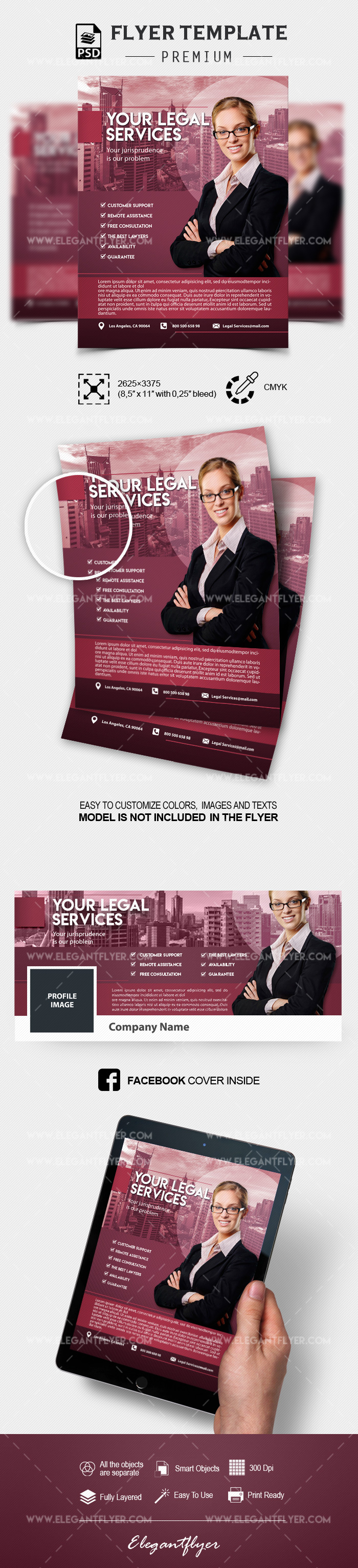 Legal Services – Flyer PSD Template
