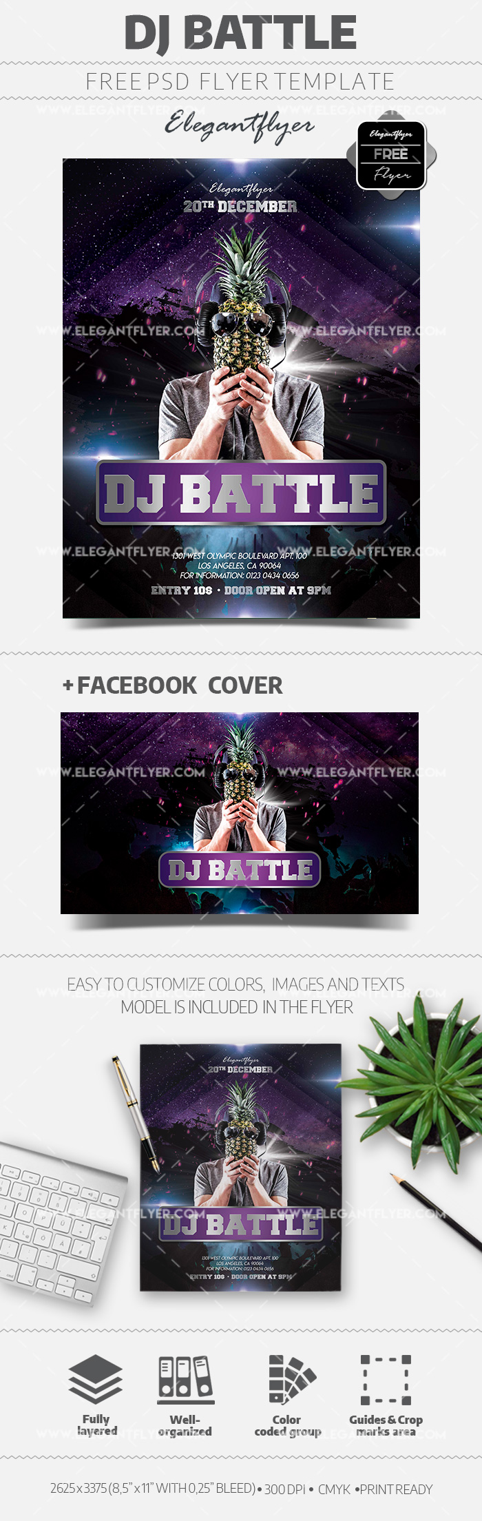 DJ Battle – Free Flyer in PSD