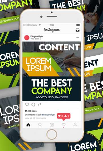 Business Social Media Templates in PSD