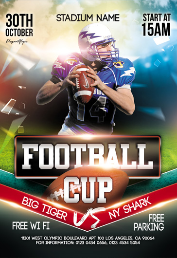 Football Cup – Flyer PSD Template + Instagram template