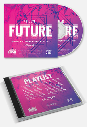 Future – Premium CD Cover PSD Template