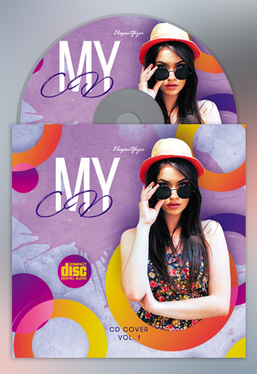My CD – Premium CD Cover PSD Template