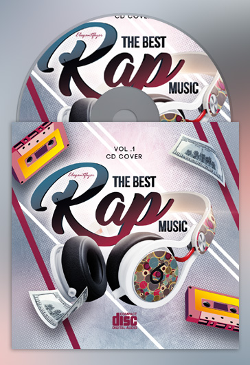 The Bes Rap Music – Premium CD Cover PSD Template