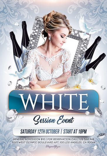 White Event – Flyer PSD Template