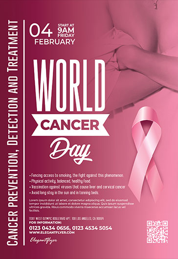 World Cancer Day Free Flyer Psd Template