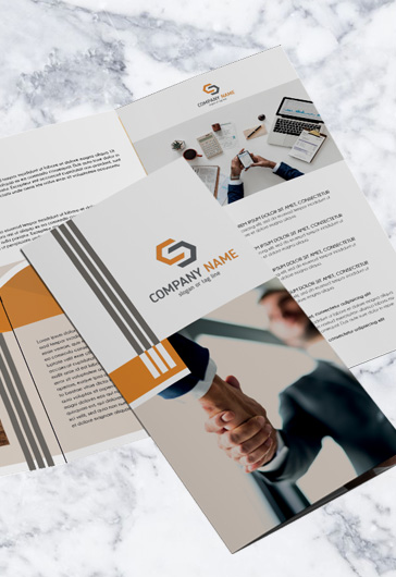 A4 Free Tri-Fold Business Brochure in PSD