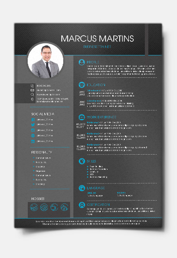Business CV Free And Cover Letter PSD Template