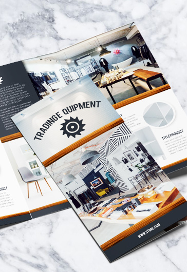 Trading equipment – PSD Tri-Fold Brochure Template