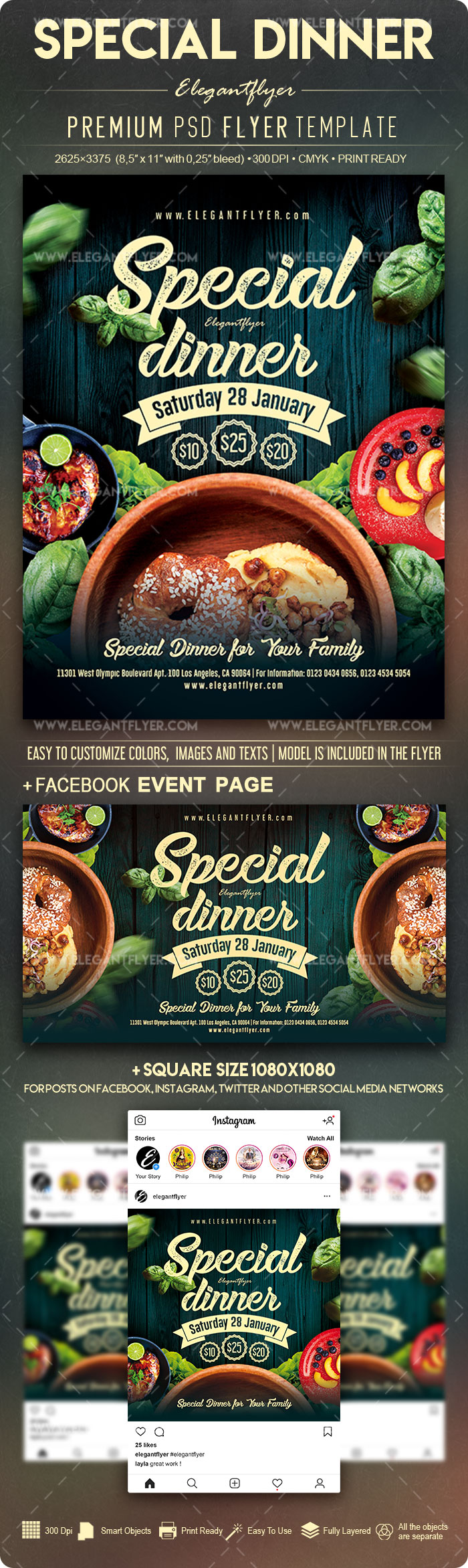 Special Dinner – Flyer PSD Template