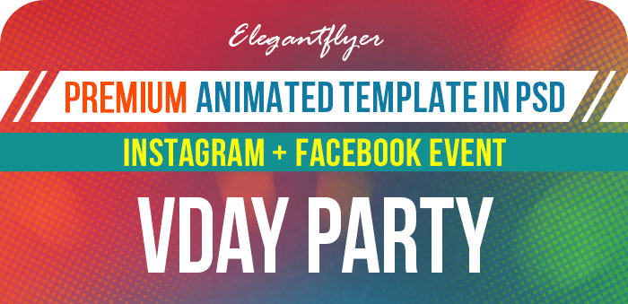 Valentine's Party – Animated Instagram + Facebook Flyer Template