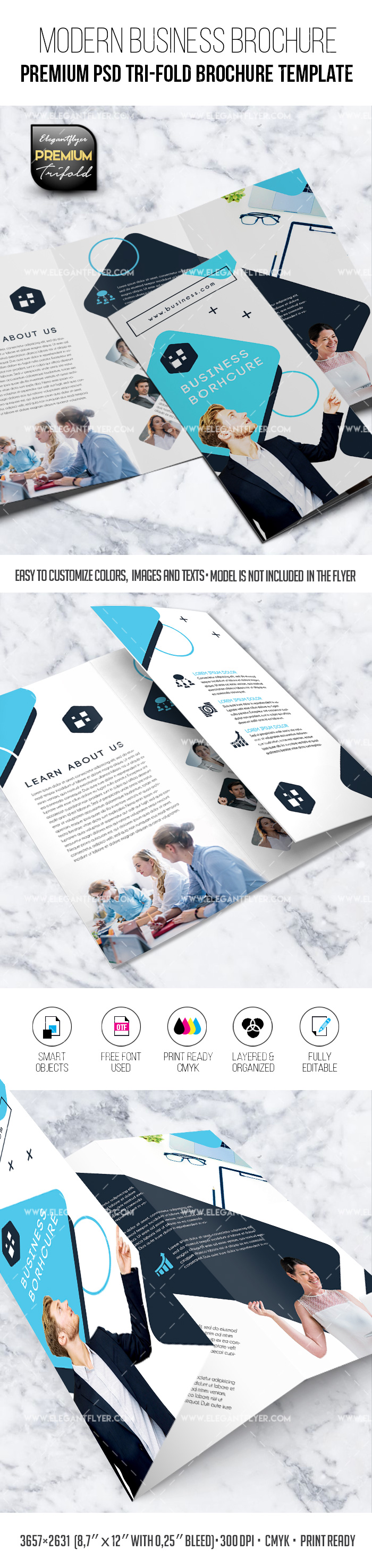 Modern Business – PSD Brochure Template