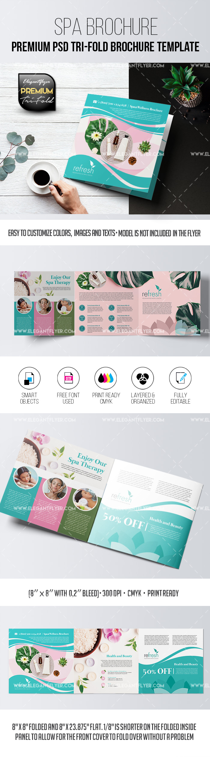 SPA Center – PSD Brochure Template