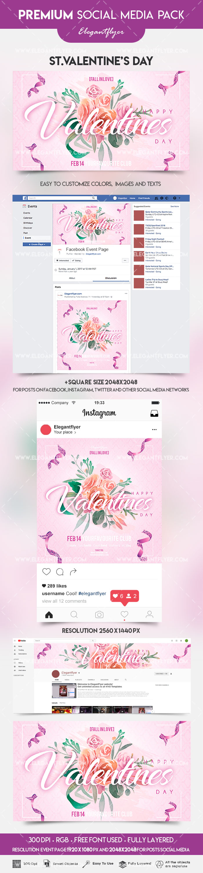 St. Valentine's Day – Facebook + Instagram + YouTube Channel