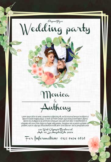 Wedding Outdoor Party – PSD Flyer Template + Facebook Cover + Instagram Post