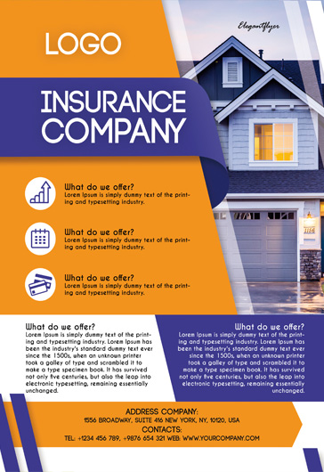 Insurance Company – Free PSD Flyer Template + Facebook Cover + Instagram Post