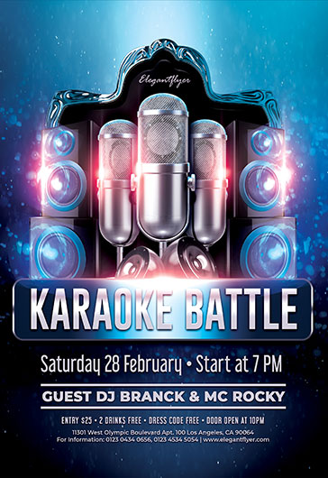 Karaoke Party – Flyer PSD Template