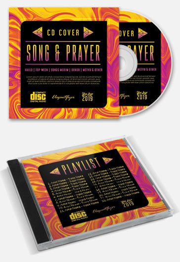Song and Prayer – Free PSD CD Cover Template