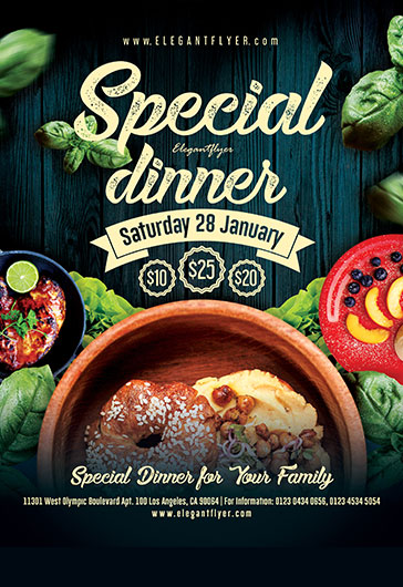 special dinner  u2013 flyer psd template  u2013 by elegantflyer