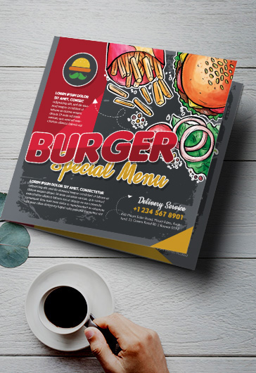 Burger Menu – Brochure Template in PSD