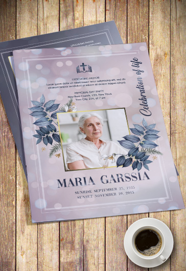 Celebration of Life – PSD Brochure Template