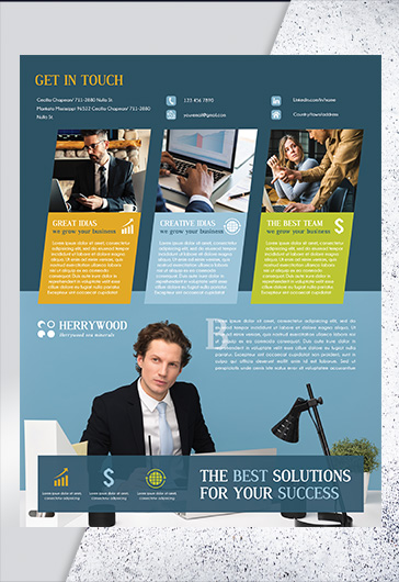 Free Corporate Flyer Templates In Psd By Elegantflyer