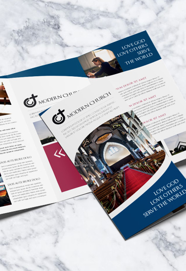 Modern Church – PSD Brochure Template