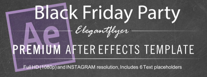 Black Friday Party – After Effects Template