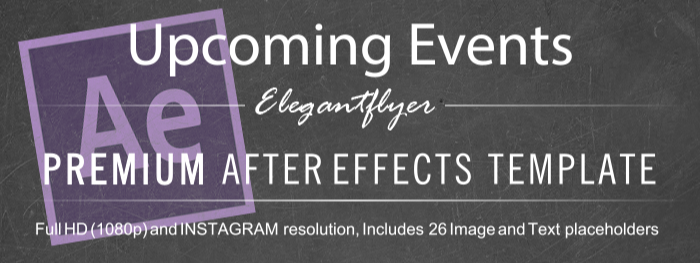 Upcoming Events After Effects Template