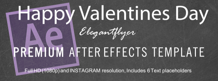 Happy Valentines Day After Effects Template