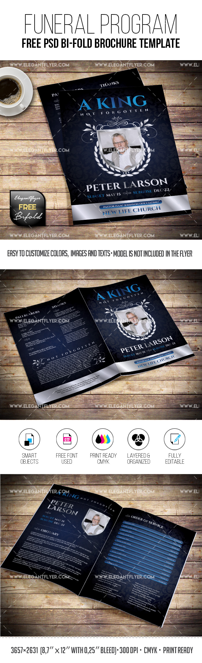 King Funeral – Free Funeral PSD Program Template