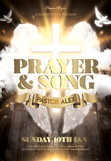 Prayer and Song – Flyer PSD Template + Facebook Cover + Instagram Post