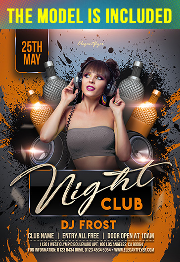 Hot Girls Night – Free Flyer PSD Template