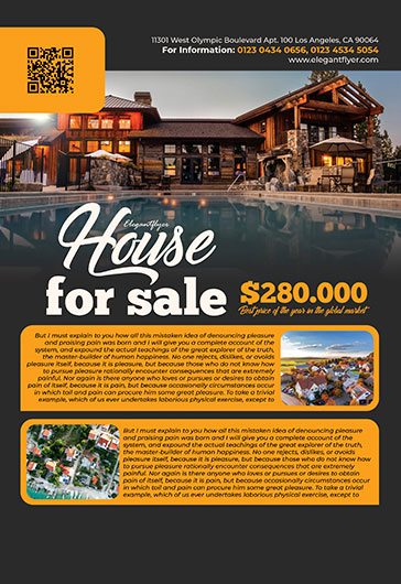 house for sale  u2013 free psd flyer template   facebook cover   instagram post  u2013 by elegantflyer