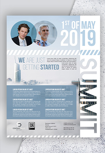 Business Summit – PSD Flyer Template + Facebook Cover + Instagram Post