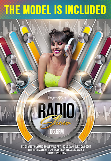 Radio Show – Flyer PSD Template + Facebook Cover + Instagram Post