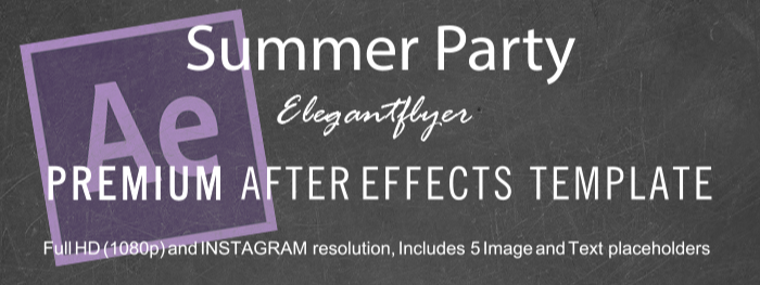 Summer Party After Effects Template