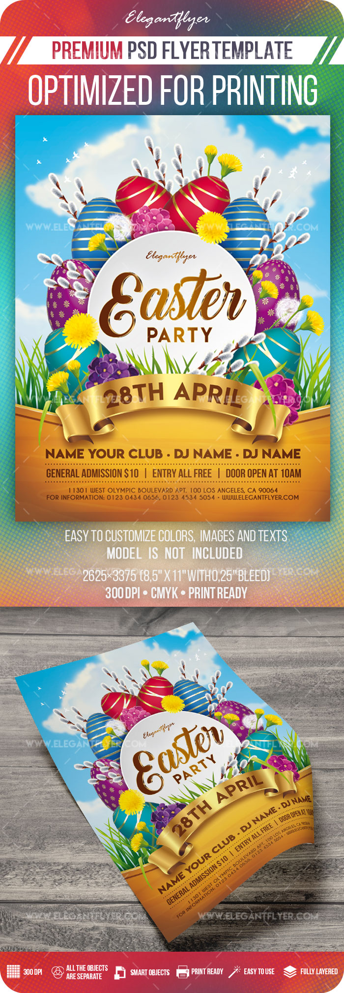 Easter Party – Flyer PSD Template