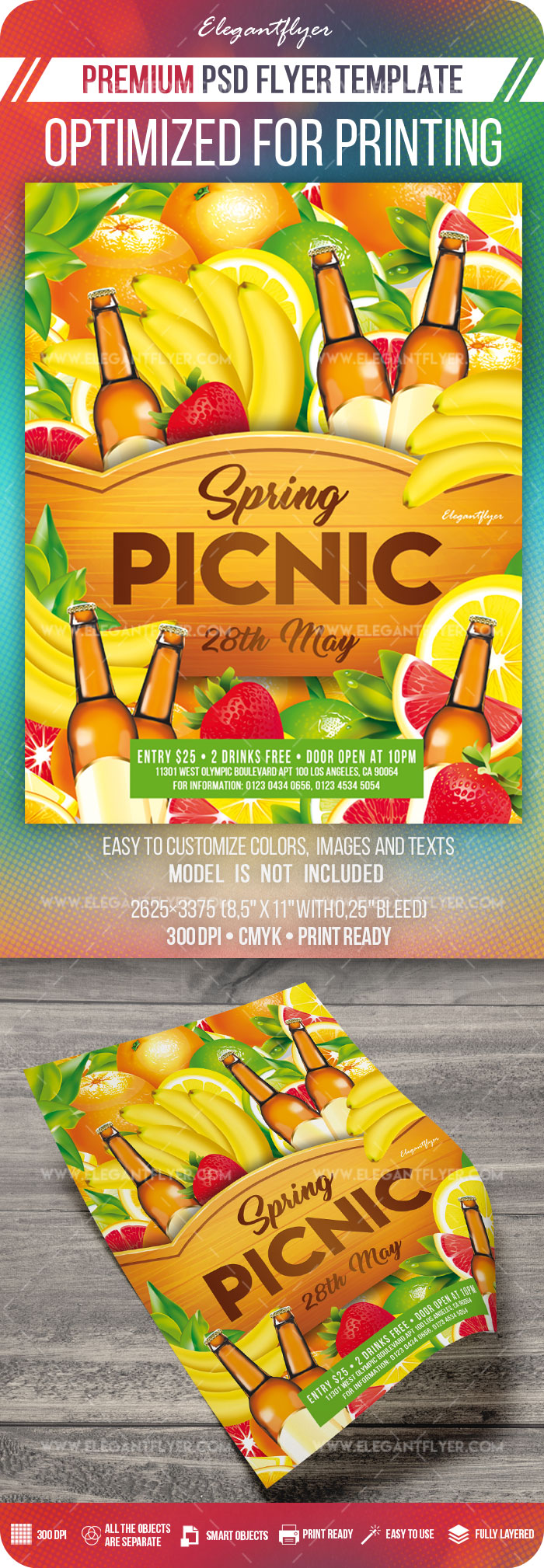 Spring Picnic – Flyer Template in PSD