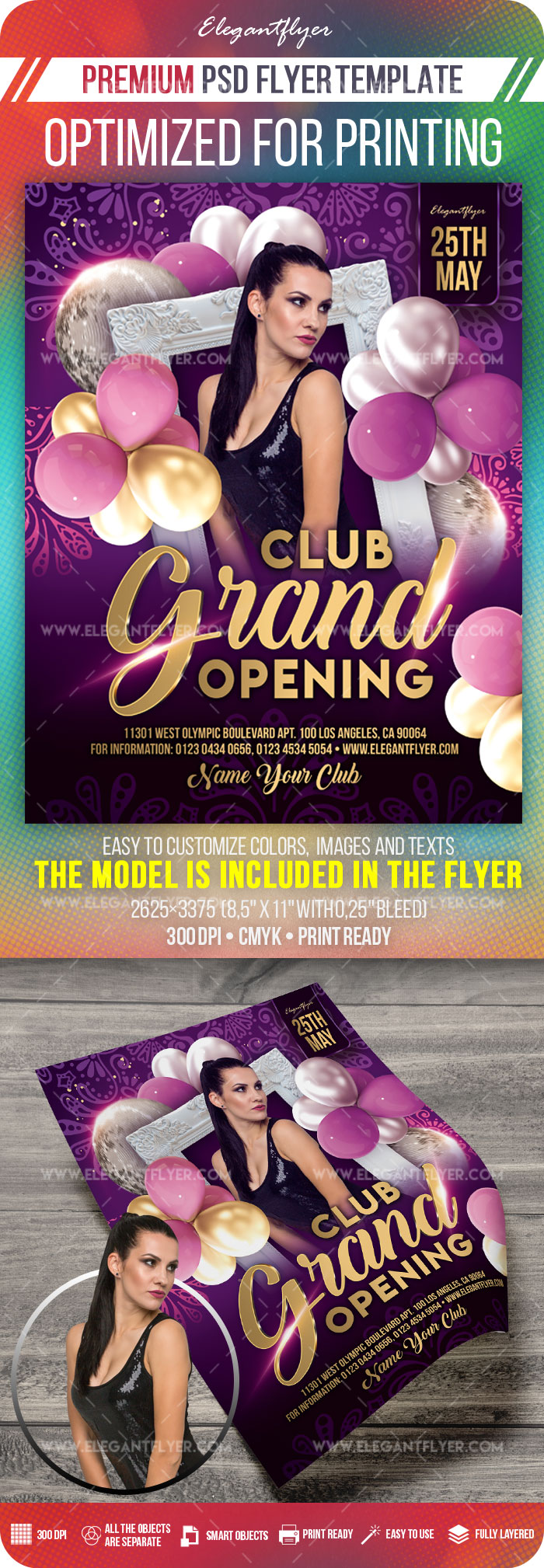 Club Grand Opening – Flyer PSD Template